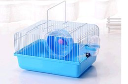 Wholesale Cheap Blue Roll - 3PCS LOT Cheap Hot Selling Wholesale Blue Pink Yellow Green hamster Small rural outside his portable hamster cage Small Snimal Supplies