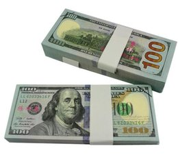 Wholesale Usa Papers - $1 2 5 10 20 50 100 Dollars Fake Paper Money Bank USA Training Collect Learning Banknotes 100Pcs Set
