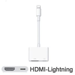 Wholesale Ipad Tv Hdmi Adapter - 2017 Hot! High quality Lighting to AV HDMI HDTV TV Digital Cable Adapter For iphone 7 7s 6 6s For ipad