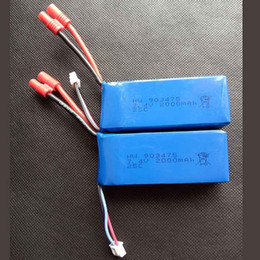 Wholesale battery toy helicopter - 2000mAh 2S 7.4V 25C Lipo Battery Helicopter Battery Syma X8C X8W X8G X8HC X8HW X8HG with voltage protection board Quadcopter Drone