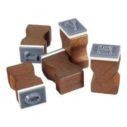 Wholesale Vintage Wooden Stamp Set - Wholesale- 30 Pieces bag Vintage Wooden Alphabet Craft Box Rubber Stamp Set Romantic Capital Letter Stamp