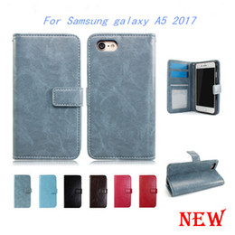 Wholesale A3 Photo - Wallet Case For Samsung galaxy A3 2017 A5 2017 J3 2017 J1 MINI PRIME Leather Case Cover Card Slot Photo Frame