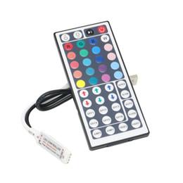 2019 luces de tira llevadas que empaquetan Edison2011 USB 44 llave RGB Mini controlador para 5V LED RGB SMD 5050 Strip Light con paquete luces de tira llevadas que empaquetan baratos