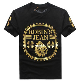 Wholesale V Neck Shirt White - The United States Robin Jeans Mens T shirts tide brand Mens T-shirt short sleeve XL 3XL