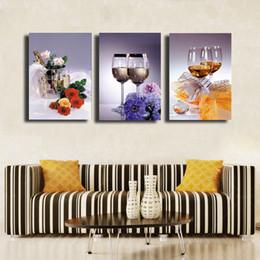 Wholesale 3 Pz set di vetro HD immagine moderna casa decorazione della parete della tela stampa pittura per la casa decorare