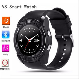 Wholesale Matches Waterproof Outdoor - Sport Watch Full Screen Smart Watch V8 For Android Match Smartphone Support TF SIM Card Bluetooth Smartwatch