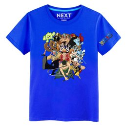 Wholesale Colours Dress Shirts - Men casual T-Shirts One Piece Anime Cotton Breathable Couples dress Short sleeve Summer Slim Crew Neck Quick Dry Bright coloured Loose