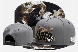 Wholesale Faded Snapback - High Quality Cayler & Sons SORRY I'M FADED smoke Baseball Caps Men gorras bones Snapback Hats Adjustable Sports Snapbacks For Adult