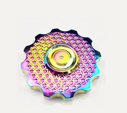 Wholesale Ceramic Toy Set - Made In USA Pcc Team New Arrival Hand Spinner Gear Fidget Spinner Colorful Blue 2 Colors Brass Material 608 Ceramic Bearing EDC Toys
