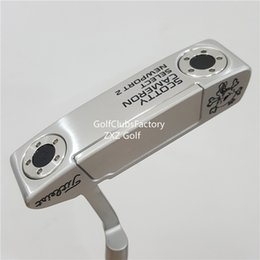 Wholesale Skeleton Hand Bags - NEWPORT 2 Skeleton Skull head Silver Black Circle T Golf Putter Weight Removable Golf Club Drivers Fairway Wood Iron Wedges Putts Bag