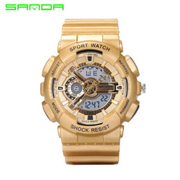 Wholesale Luxury Diving Watches For Men - 2017 Fashion Sport SANDA Watch Men Dive Military Clock For Mens Watches Top Brand Luxury Camouflage Geneva relogio masculino 799