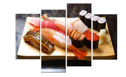 Wholesale Food Art Pictures - YIJIAHE Catering Print Canvas Painting Food 4 Piece Canvas Art Wall Pictures For Living Room Large Wall Art JW226
