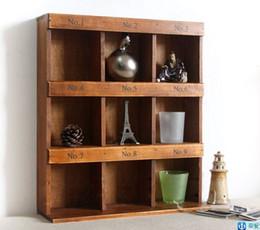 Wholesale Decorative Wood Shelves - Vintage home decor reveals ark Receive wooden Decorative Wall Shelves 35*11*40cm