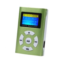 2019 lecteur mp3 tf card 32gb Gros- nouvelle carte Mini écran LCD portable Support USB 32 Go Micro SD TF lecteur MP3 sans accessoires soutien Wholesales lecteur mp3 tf card 32gb pas cher