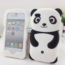 2016 Nouveau Populaire Mignon 3D Panda Doux Silicone de Protection Retour téléphone Cas Couverture Peau Pour iPhone 4 4S 5 5S 6 s 7 7 plus de Haute Qualité M1Y 7CIC ? partir de fabricateur