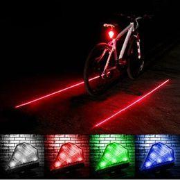 Wholesale Xenon Flash Lights - Cycling Bicycle Bike led lights Rear Tail Safety Warning 8 Led+ 2 Laser Flashing Lamp Light