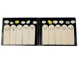 Wholesale Sticky Note Book - Wholesale- 10 x Kawaii Unique Scrapbooking Ten Fingers Sticker Bookmark Tab Flags Memo Book Marker Sticky Notes 200 Sheets SU02