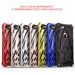 Wholesale High End Mobile Phone Cases - New Creative Design Phone Case For iPhone 8 7 6 Plus High-end PC+TPU Material Phantom Series 2 In 1 Hybrid Mobile Phone Case