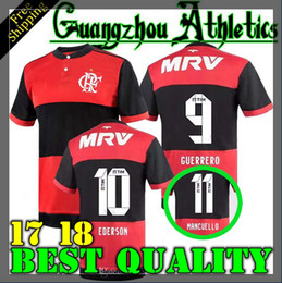 Wholesale Camisetas Futbol Thai Quality - NEW thai quality 2017 CR Flamengo soccer jerseyS 17 18 Flamenco camisetas futbol camisa de futebol maillot de football uniform shirts Brasil