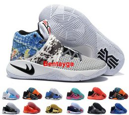 Wholesale Cut Gift Box - 2017 Cheap Kyrie 2 Mens Basketball Shoes Kyrie Irving 2 Gold Black Tie BHM All Star Basketball Sneakers Top Quality With Box Best Men Gift 7
