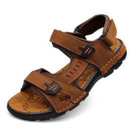 Wholesale High Beach Sandals - Brand Fashion Men Beach Sandals High Quality Summer Leather Men Sandals