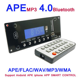 Wholesale Bluetooth Audio Board - Wholesale- MP3 Decoding Board 4.0 Bluetooth Wireless Audio DIY Module APE FLAC WMA WAV MP3 Decoder Support U Sisk SD MMC Card Radio