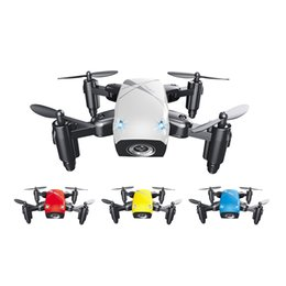 Wholesale Hd Fpv - S9W 2.4G 4CH 0.3MP HD Camera Mini Helicopter WIFI FPV Altitude Hold Flight Planning Foldable RC Quadcopter Selfie Drone