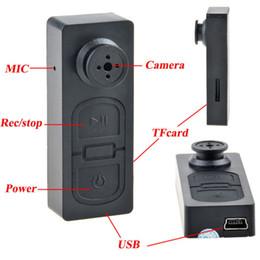 Wholesale Mini Audio Surveillance - 720P Mini Hidden Camcorder Pinhole Button Camera Digital Video Audio Reccorder Surveillance Camera Support TF Card