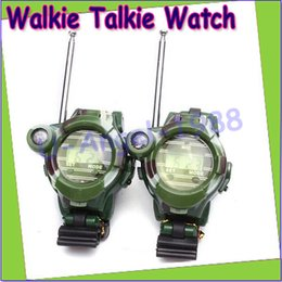 Wholesale Walkie Talkie Watches For Kids - 2pcs multifunction two way Walkie Talkie with Magnifier and LCD digital watch Compass Toys For Kids