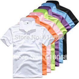 Wholesale cheap hooded tops - Wholesale- Free Shipping Cheap Men's Clothing Shirt Pure Color Turn-down Collar Men's Short-Sleeve Tops Casual&Leisure Shirt M~XXXL