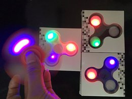 sport tips Coupons - LED Light Hand Spinners Fidget Spinner Top Quality Triangle Finger Spinning Colorful Decompression Fingers Tip Tops Toys 2017 New