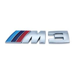 Wholesale M3 Logo Emblem - 50x M3 Logo Badge Emblem Sticker Decal M3 318i 330i E46 Z3 Blue  Dark Blue  Red Free Shipping