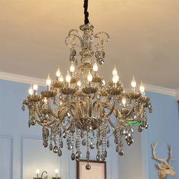 Discount staircase chandeliers - living room crystal chandelier lighting vintage lamp indoor staircase lighting crystal bathroom lamp Villa duplex crystal Chandelier lamps