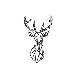 Wholesale Wall Decal Geometric - Home Decor Stickers Geometric Deer Head Wall Sticker Modern Home Decor Geometry Animal Series Decals 3D Vinyl Wall Art