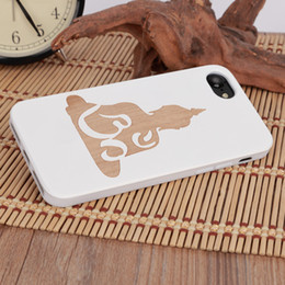 Wholesale Hot Selling Mobile Accessories - U&I ®Hot selling Thinnest white wood phone case for IPhone Soft TPU rubber coating mobile phone accessories