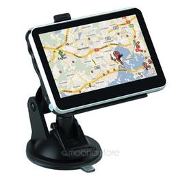 mercedes radio navigation Rebajas Navegador de navegación GPS para coche de 4.3 pulgadas con Bluetooth AV FM Multilingual Win CE 6.0 Nuevo mapa para todo el país Envío gratuito de DHL