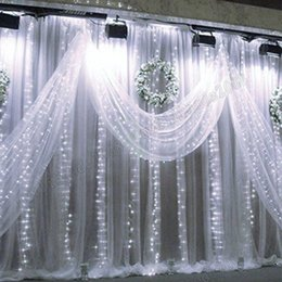 Wholesale Led Strip 8m - 2017 NEW Curtain Lights 1024 LED lights Bulbs 8m*4m,Waterproof Christmas ornament light,Flash Colored Fairy wedding lights Led strip MYY