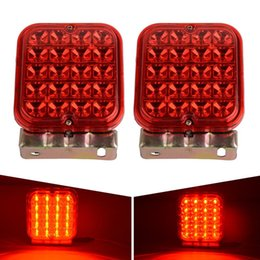 "Wholesale Audi Brake Kits - 2X4.5"" 12V LED Trailer Tail Light Kit Brake Turn Signal Utility Rv's Boat Truck free shipping yy123"