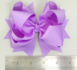 Wholesale Large Boutique Bows - 20pcs Boutique 5 inch multilayer large Grosgrain ribbon hair Bows Clips Bowknot Infants hairbow Girls Birthday Party hair accessories HD3469