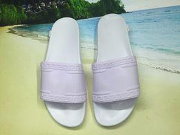 Wholesale Cheap Beach Sandals - 2017 Cheap Men beach slide Sandals Scuffs Mens Leather Rubber Massage Slippers Mens Comfortable medusas Summer Beach fashion slip-on sandals
