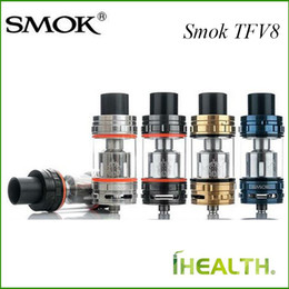 Wholesale Unique Tank Tops - Smok TFV8 Sub Ohm tank 6ml Capacity with Top Refilling Adopts 4 Unique Patented Turbo Engines 100% Original Best for Koopor Primus