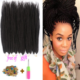 Wholesale Synthetic Braiding Hair Purple - 18'' 100g packSenegalese Twist Hair Crochet Braid 22inch 30stands Synthetic Black Purple Ombre Kanekalon Braiding Hair Extension