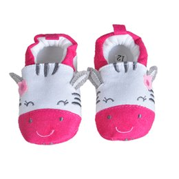 Wholesale Kids Slippers Wholesale - Wholesale- 2017 Newy Style Soft Cartoon Baby Boys Girls Infant Shoes Slippers 0-6 6-12 First Walkers Cotton Skid-Proof Kids Baby Shoes