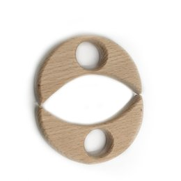 Wholesale European Baby Charms - Moon Charms Pendant Handicrafts Baby Teether Accessories Eco-friendly Wooden Toy Baby Can-Chew High Quality Charms Infant Baby Birth Gift