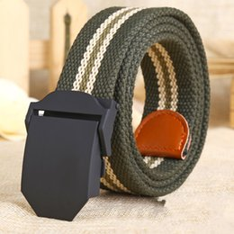 Wholesale Thick Canvas Belt - Hot male tactical belt Top quality 4 mm thick 4cm wide canvas belt For men Automatic buckle Man extended belts designer belts