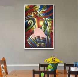 pinturas famosas mulheres arte Desconto Famosas pinturas a óleo Picasso pintura abstrata Desgaste do chapéu da mulher pintados à mão na parede da lona arte decoração imagem