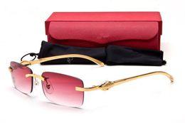 Wholesale Cheap Rimless Eyeglasses - Cheap Silver Golden Luxury Eyeglasses Rimless Platinum Filament Unisex Glasses Original Packing