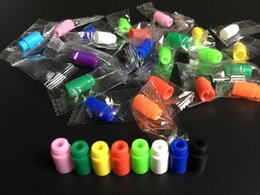 Wholesale Disposable Testing Caps - 510 Silicone Mouthpiece Cover Drip Tip Disposable Colorful Silicon Testing caps rubber short ego Test Tips Tester Cap drip tips For ecig DHL
