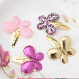 Wholesale Kid Butterfly Barrettes - Baby Girls Hair Accessories Sequins Heart Butterfly Barrettes Glitter Stars BB Clip Hair Clips Kids Children Hairpin Wholesale