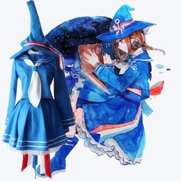 Wholesale Sailor S Hat - The Ocean Original Wadanohara And The Great Sea Normal End2 Cosplay Costumes Blue Sailor Suits Women Casual Tops + Skirt + Hat